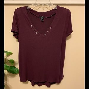 Rue21 Burgundy Top